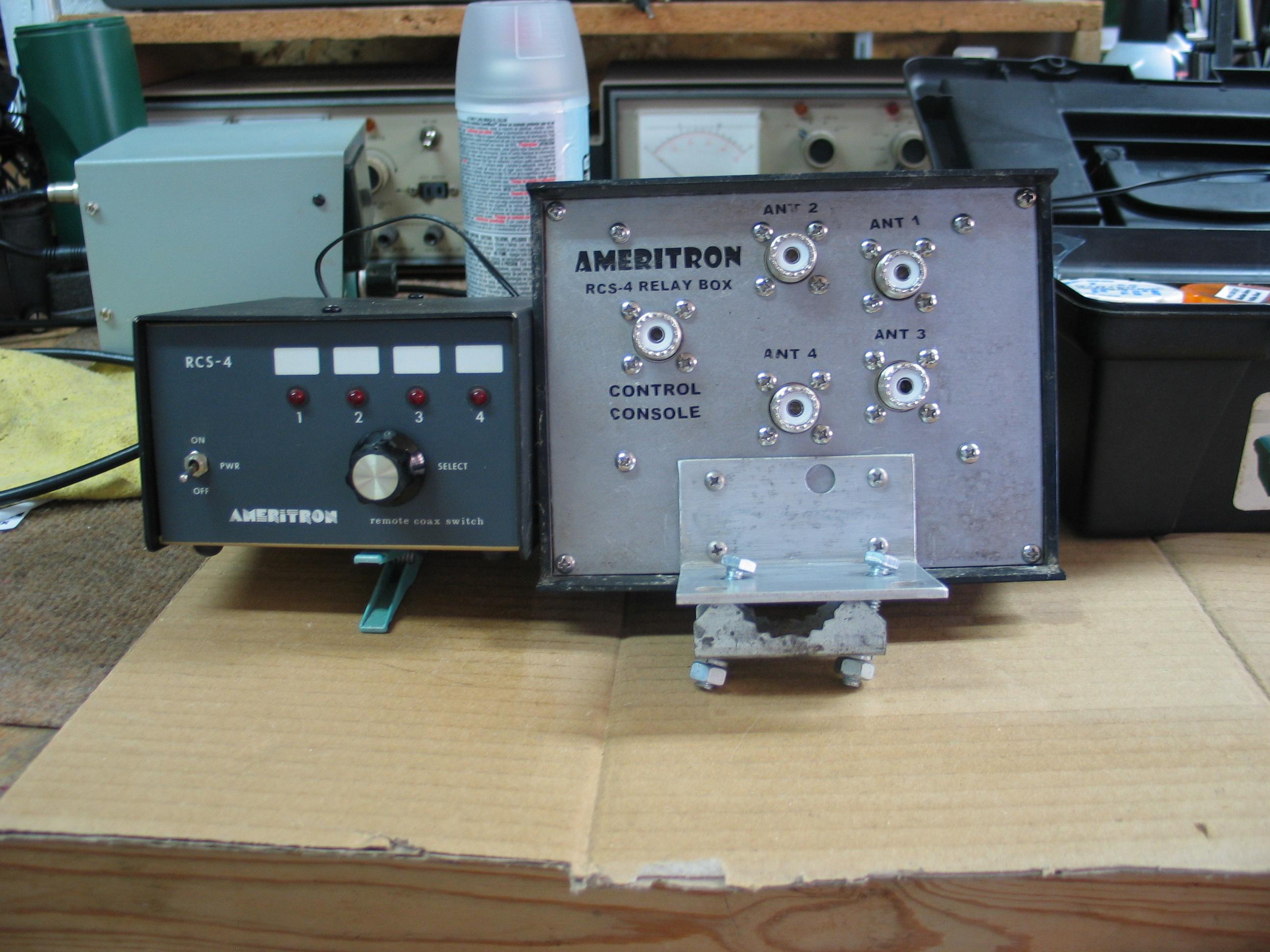 Rebuilt Ameritron RCS-4 Remote Switch Box   W5RKL
